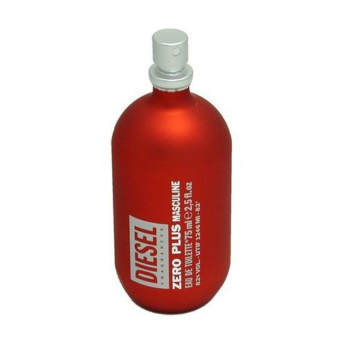 diesel zero plus masculine vermelho edt 75 ml ((( tester )))