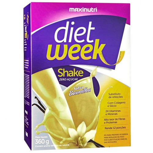 diet week shake - 360g - sabor baunilha - maxinutri