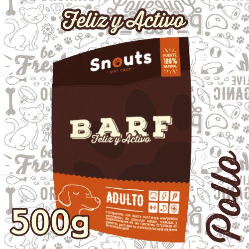 dieta barf perros - feliz y activo - pollo 500g