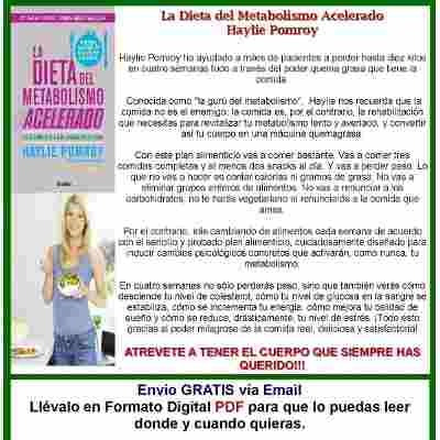 dieta metabolismo acelerado+ quemalo haylie pomroy pdf+ epub