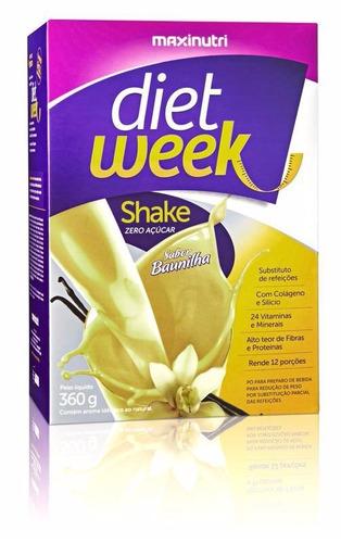 dietweek shake baunilha 360g. - maxinutri