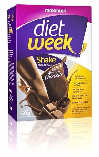 dietweek shake mousse de chocolate 360g. - maxinutri