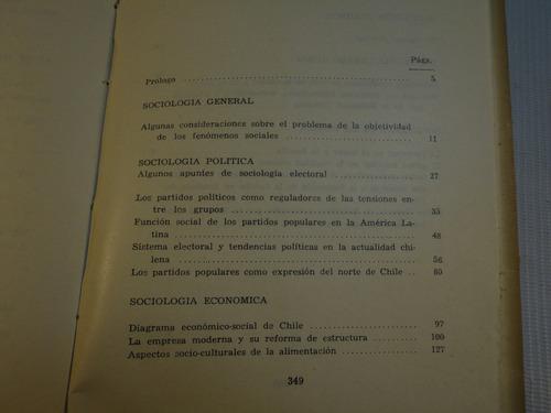 diez años de la sociologia chilena 1961