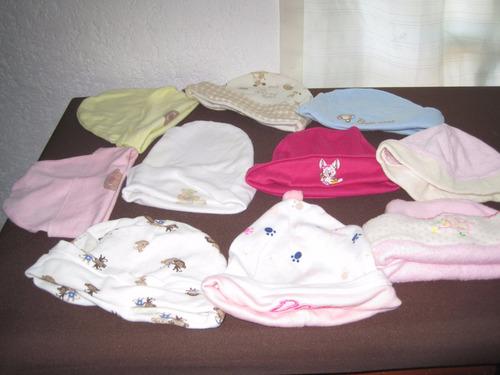 diez gorros para bebe de 0 a 3 meses