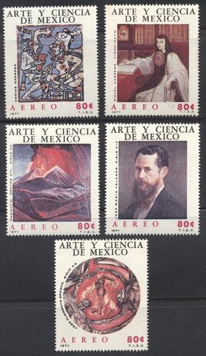 diez timbres áereos del año 1971