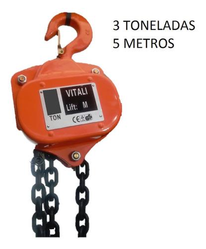 diferencial 3 toneladas con 5 metros de cadena - vitali