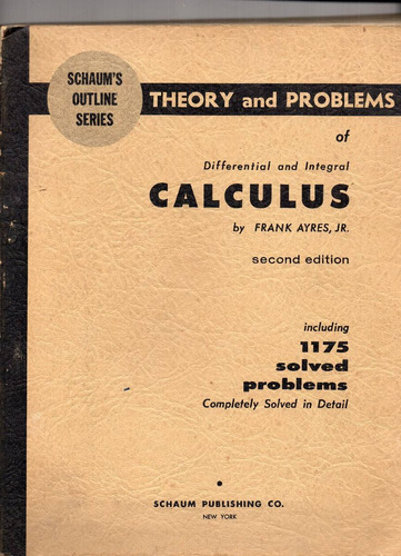 differential and integral calculus by frank ayres jr