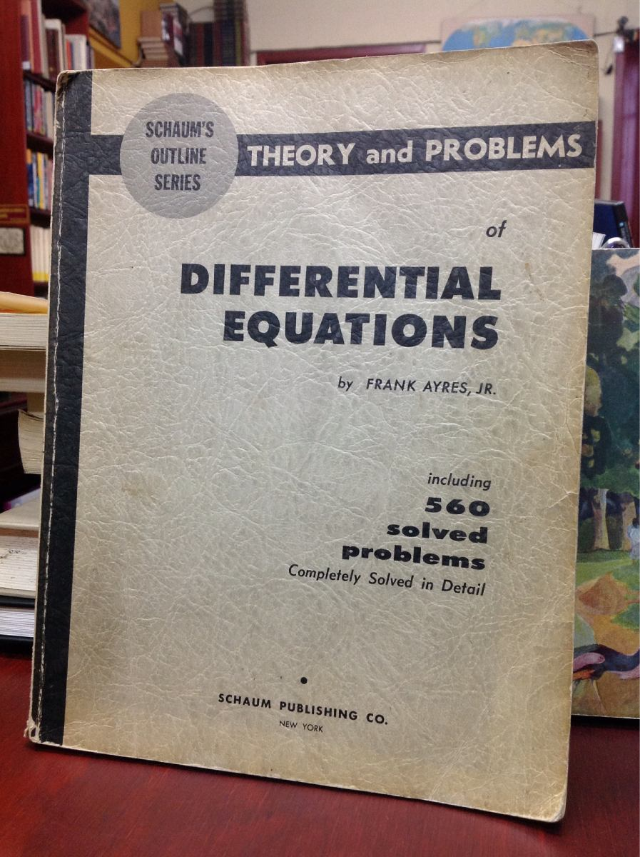 DIFFERENTIAL EQUATIONS AYRES PDF DOWNLOAD