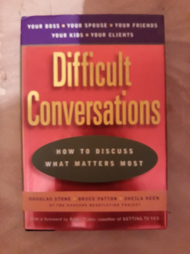 difficult conversations libro