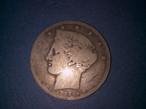 dificil bamba o 5 reales de 1858