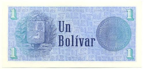 difícil billete 1 bolívar - tinoquito octubre 1989 serial c8
