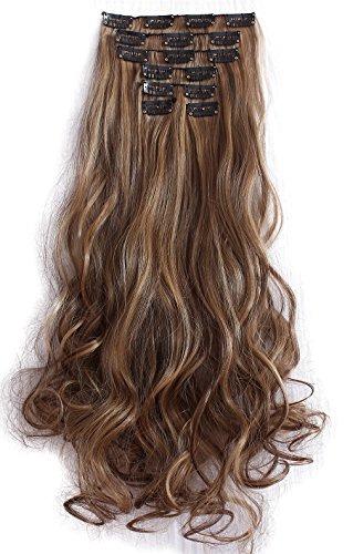 diforbeauty 20 \clips mujeres largo rizado cabeza llena en