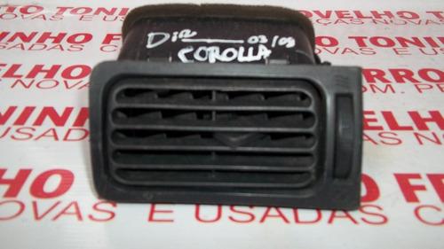 difusor ar painel toyota corolla 03/08 l.d original