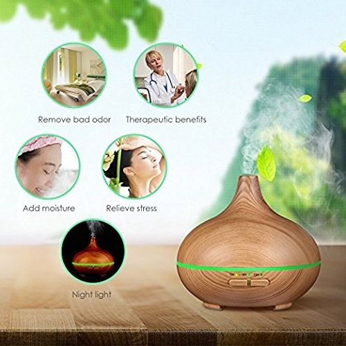 difusor aromaterapia ultrasonico 300ml para aceite esencial