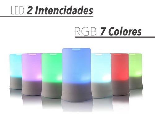 difusor aromatico ultrasonico - humidificador - luz led