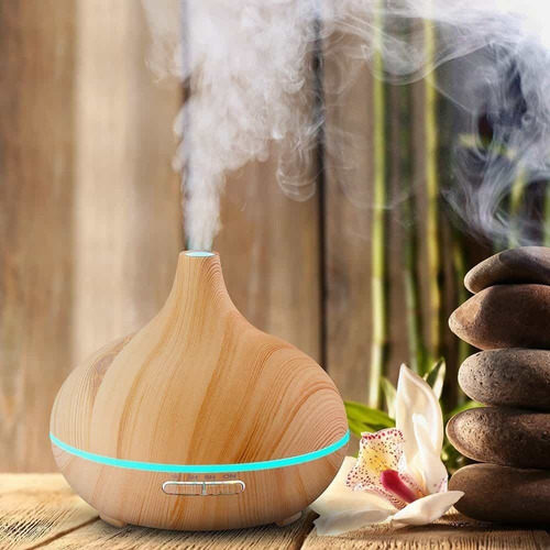 difusor aromatico ultrasonico vapor frio madera xl grande