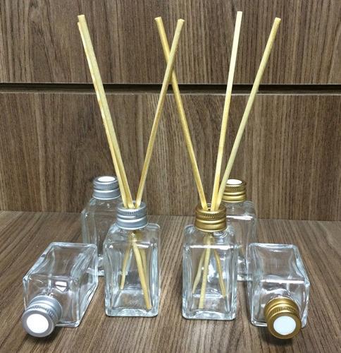 difusor aromatizador quadr 30ml vidro tampa dourada- 40 unds