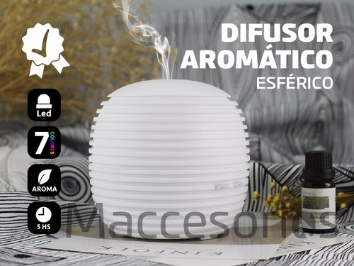 difusor humidificador aromatico ultrasonico  - esferico
