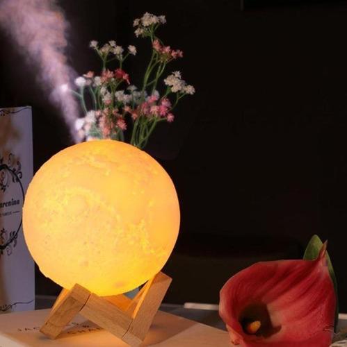 difusor humidificador luna lampara velador 3d touch luz