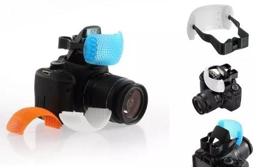 difusor  tres cores para flash popup