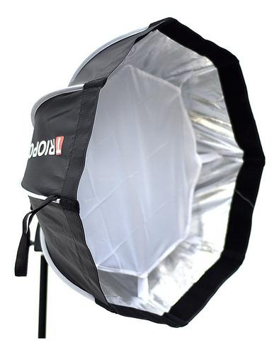 difusor triopo hexa softbox 55cm c/ rotula p/ flash zapata