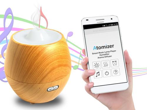 difusor ultrasónico aromaterapia bluetooth musica +esencia