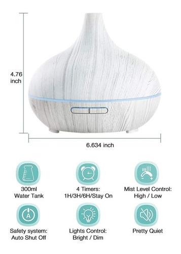 difusor ultrasónico humificador   aromatherapy 300 ml