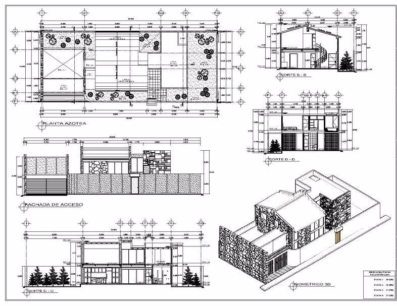 Dig autocad vray planos 2d 3d render revit tecnico for Planos ingenieria civil