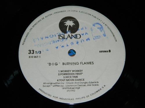 dig burning flames
