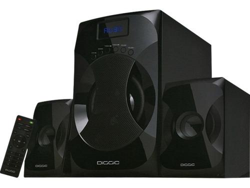 diggio parlante equipo sonido bluetooth usb fm cine en casa
