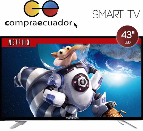 diggio televisor led 43 smart tv hd wifi android + obsequio
