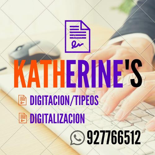 digitación tipeo base de datos y labores académicas