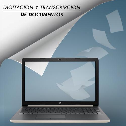 digitación y transcipción de textos
