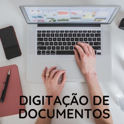 digitação de documentos