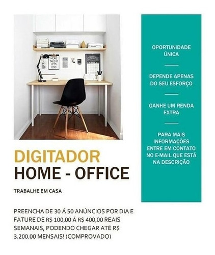 digitador home - office