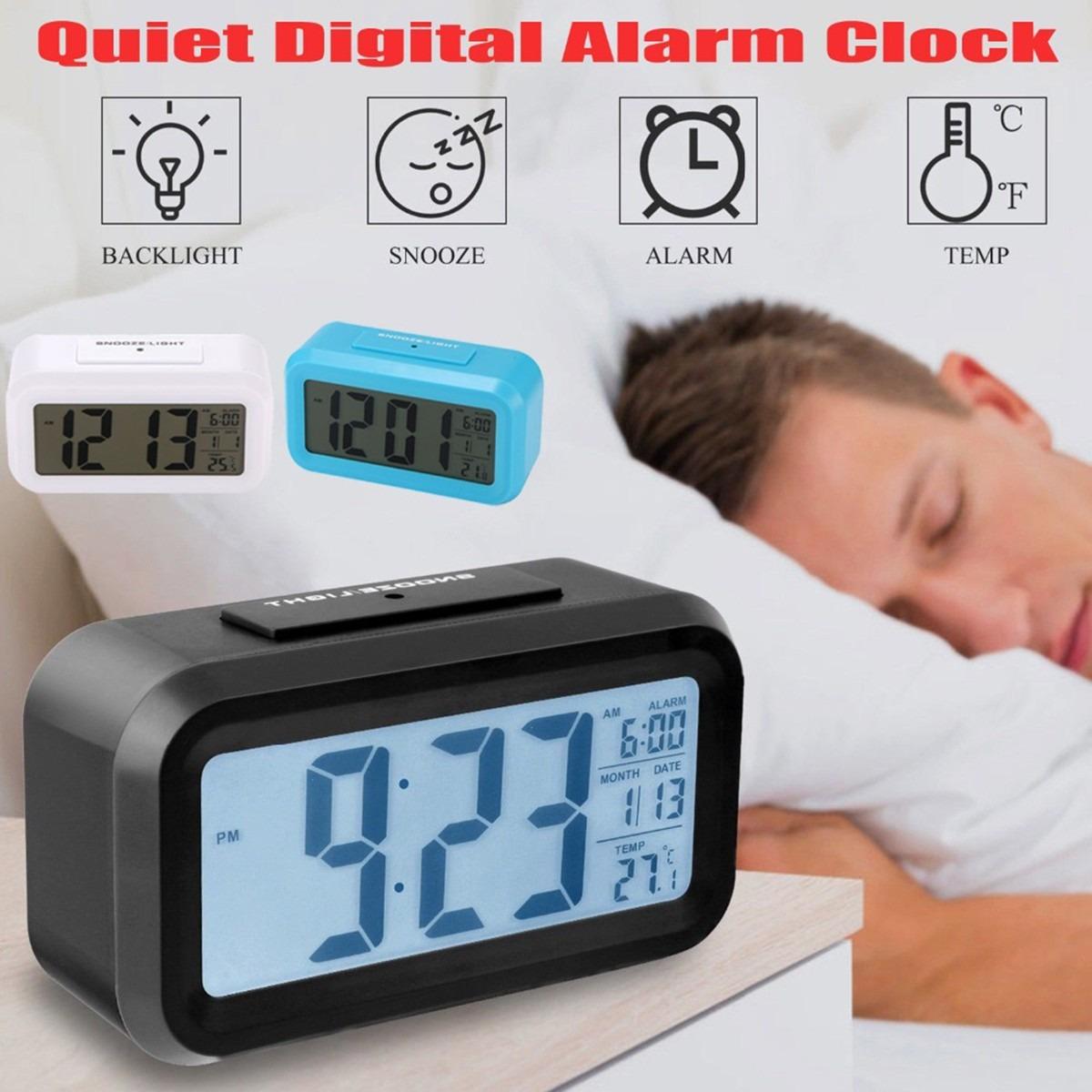 Luz Espalda D Lcd Reloj Del Moderno Alarma Digital Con c5AR3Lj4q