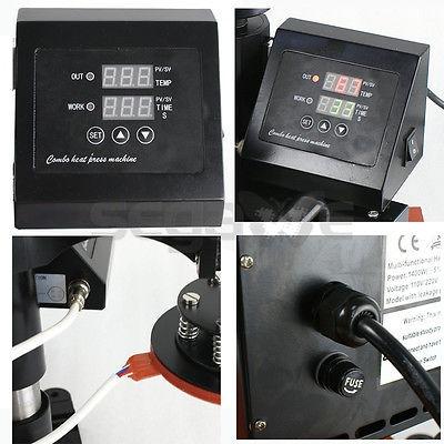 digital calor máquina dye sublimación calor prensa 5 en 1
