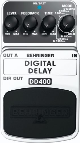digital delay dd400 pedal de guitarra behringer echo