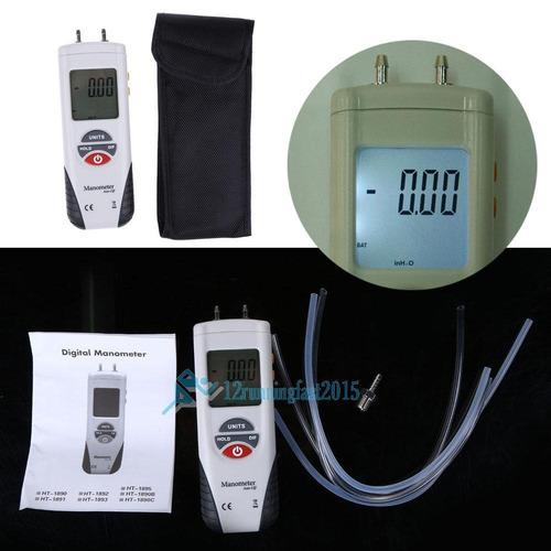 digital lcd manómetro diferencial de aire presión medidor ca