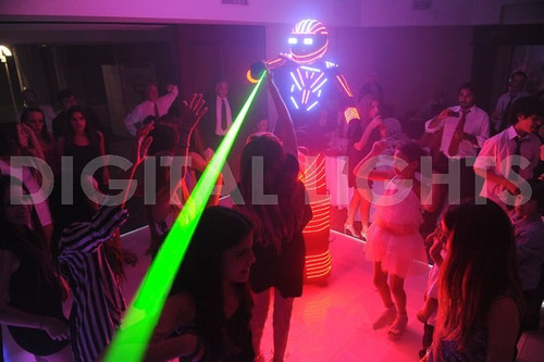 digital lights - robot led party-bot! - 16 canales rgb !!!