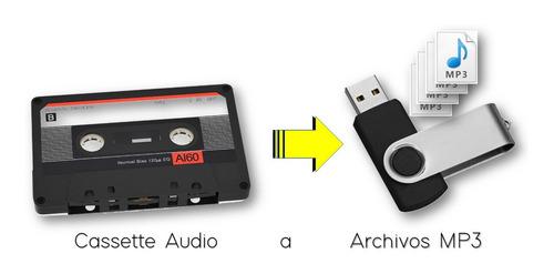 digitalización de cassettes a memoria usb