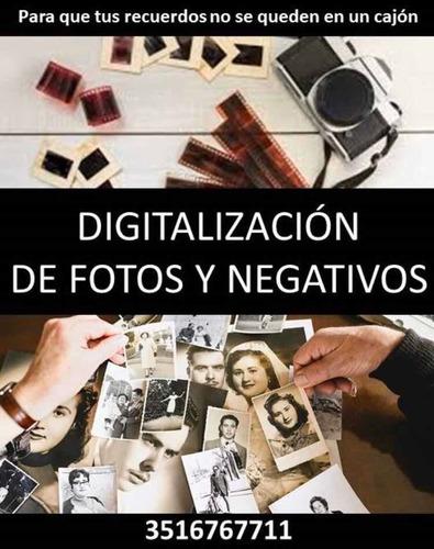 digitalización de fotos, diapositivas y negativos