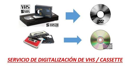 digitalización de vhs & cassette - córdoba capital