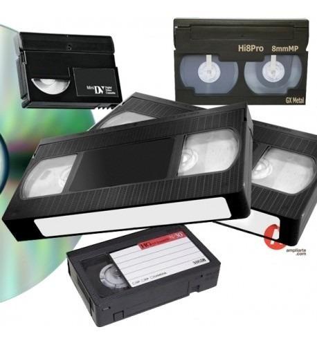 digitalizaciones conversiones vhs 8 mm vhs compacto mini dv
