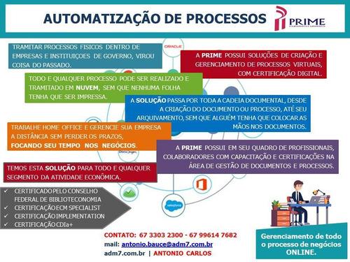 digitalização- gestão de processos - escritório sem papel