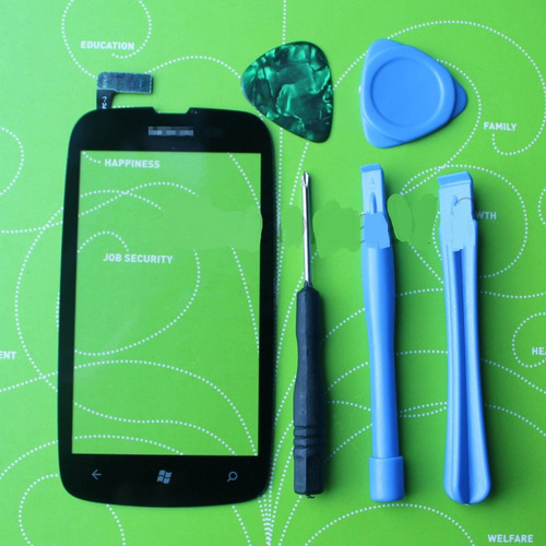 digitalizador negro touch screen para nokia lumia 610