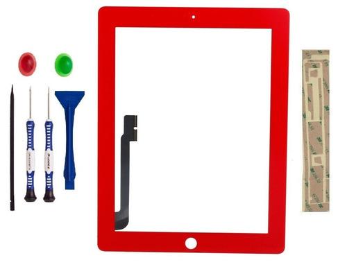 digitalizador rojo ipad 3 3rd generation