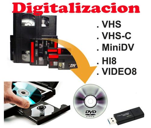 digitalizamos videos caseros a dvd o usb