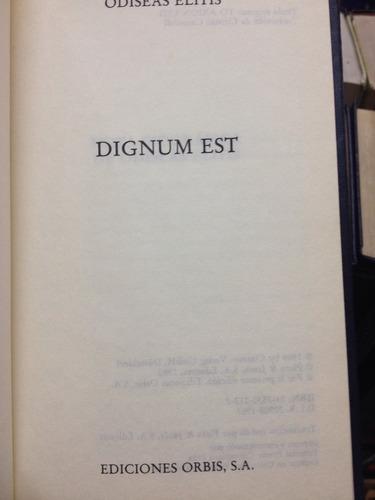 dignum est - odiseas elitis