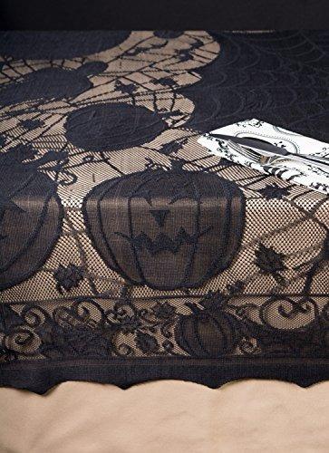 dii 54x72  mantel rectangular de encaje de poliéster, negro